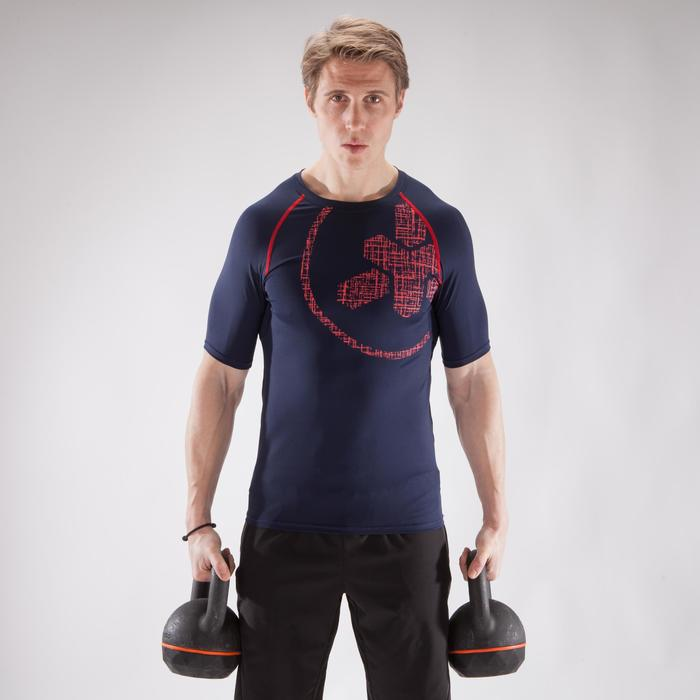 500 Cross Training Compression T-Shirt - Blue