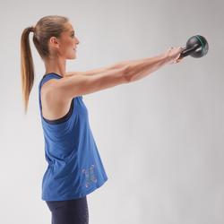 Fitness top crosstraining voor dames, blauw