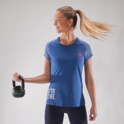 T-Shirt 500 Crosstraining Damen blau