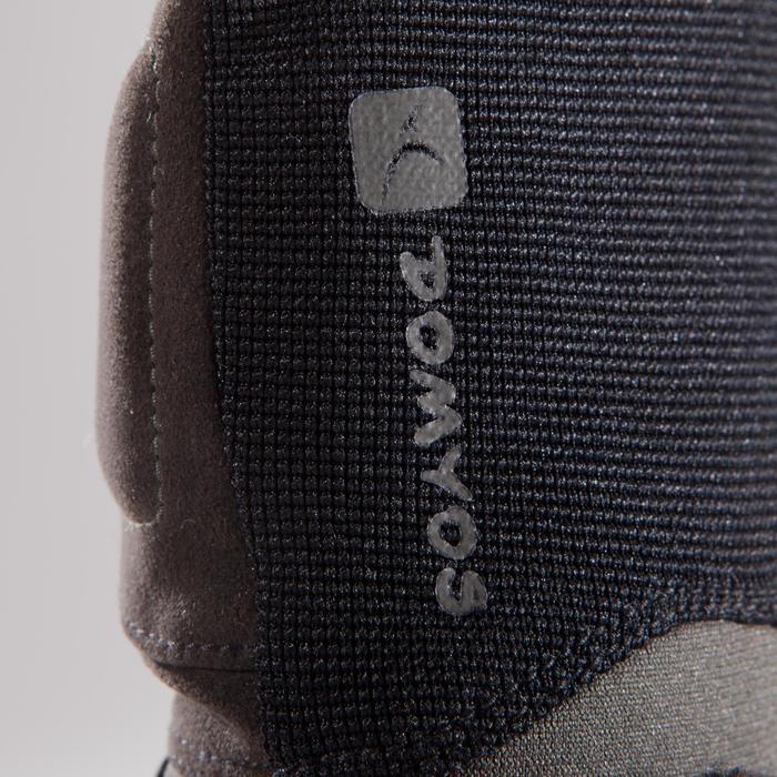 Trainingshandschuhe 500 Krafttraining Klettverschluss schwarz/kaki