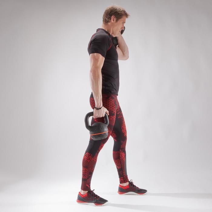500 Cross Training Leggings - Black/Red