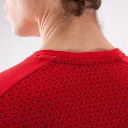 Camiseta Manga Corta Cross Training Musculación Domyos 500 Hombre Rojo Cereza