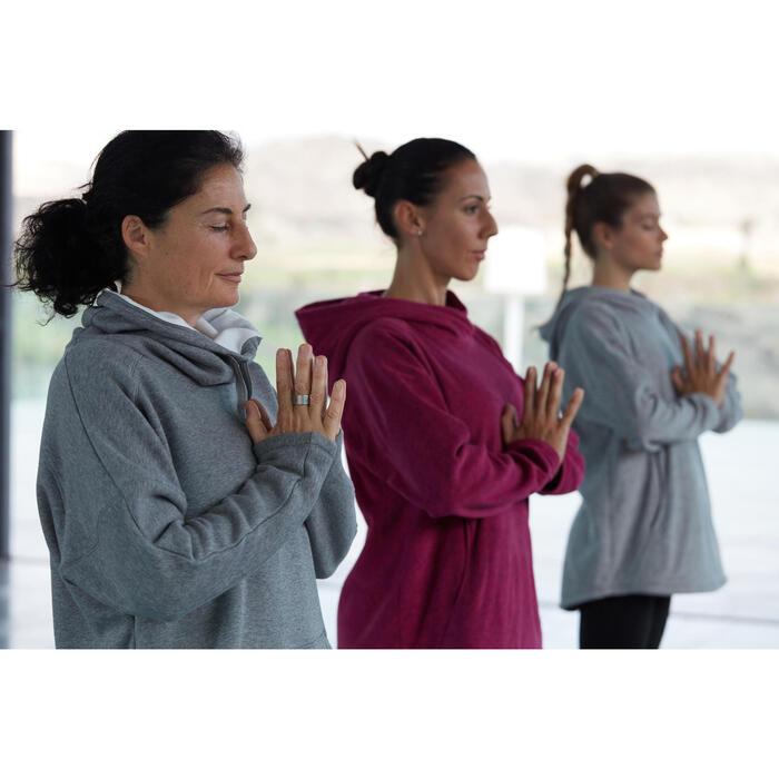 Sweat polaire yoga COCOON femme noir - 1311576