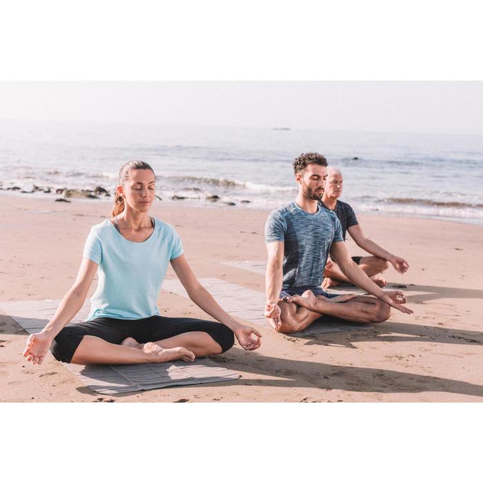T shirt yoga doux femme en coton issu de l'agriculture biologique noir - 1311577
