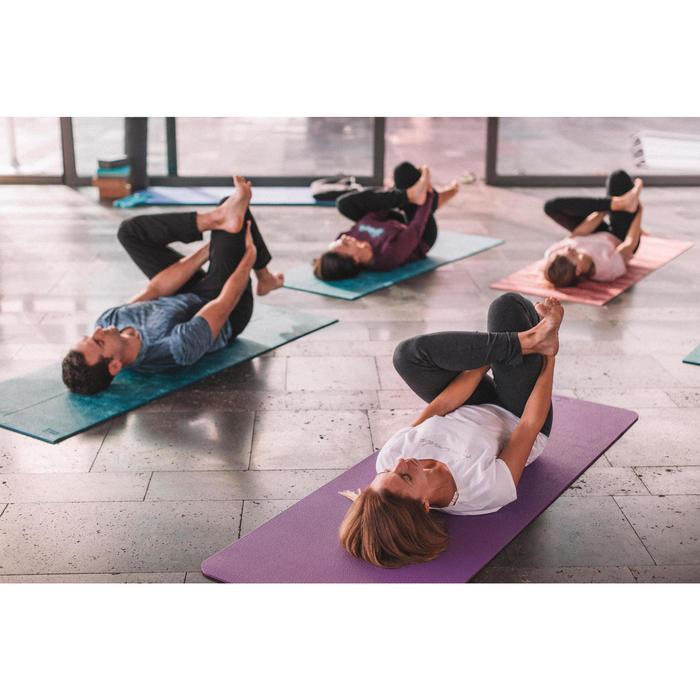 Legging yoga femme coton issu de l'agriculture biologique noir / gris chiné - 1311579
