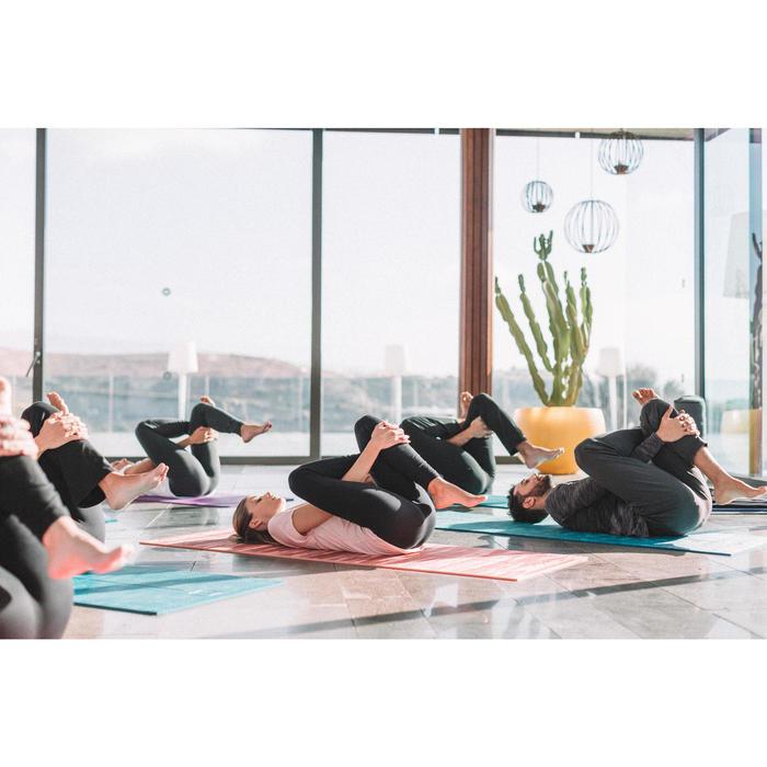 Legging yoga femme coton issu de l'agriculture biologique noir / gris chiné - 1311582