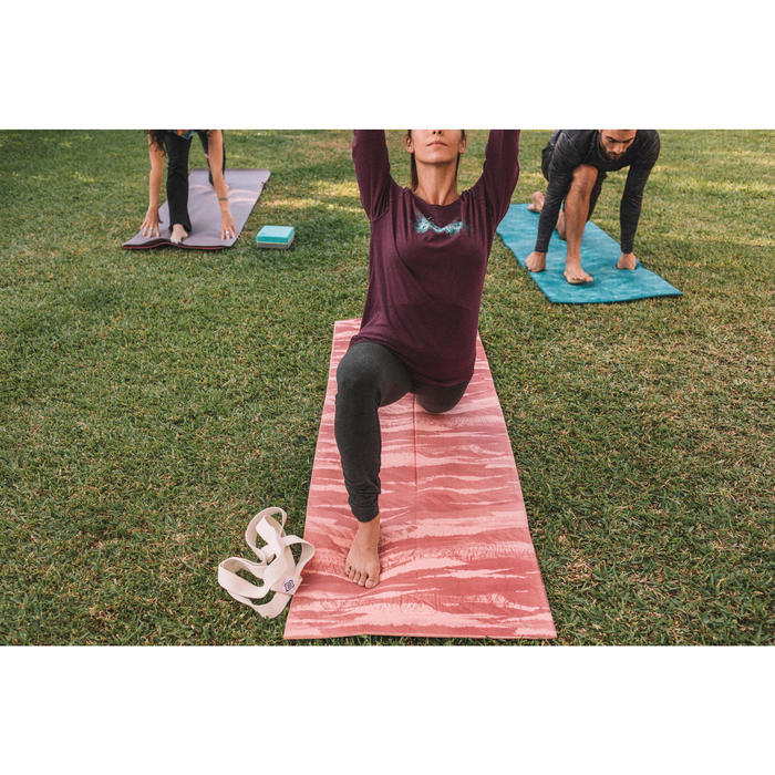 Yogamatte 8mm Print rosa