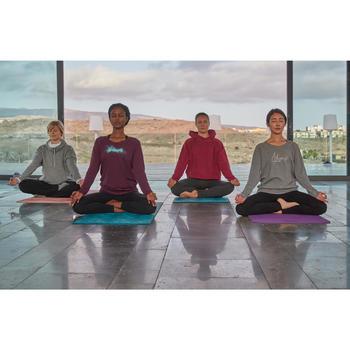 Langarmshirt Yoga Damen grau meliert