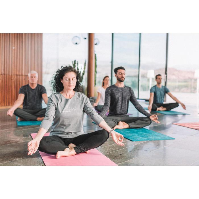 Dames T-shirt met lange mouwen voor zachte yoga gemêleerd grijs