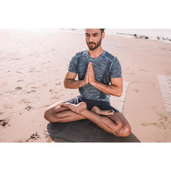 Sporthose kurz Yoga Herren blau