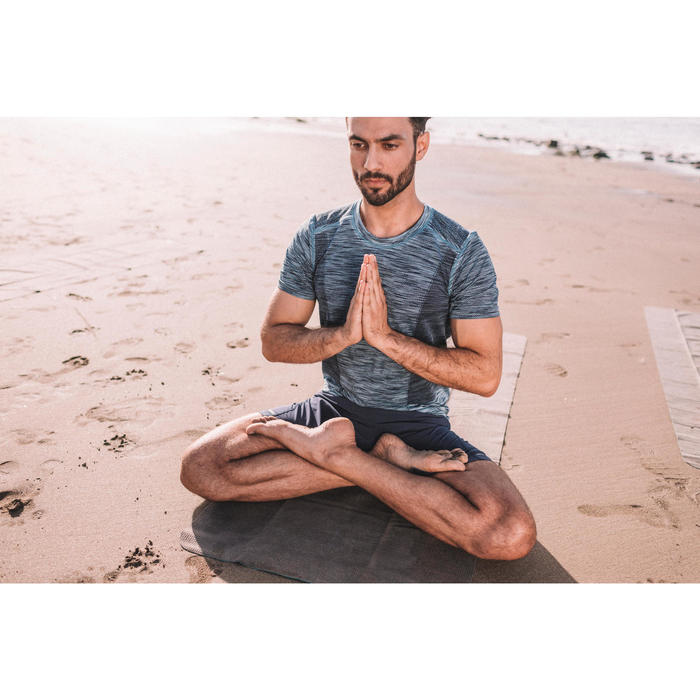 Sporthose kurz Yoga Herren marineblau