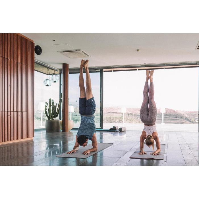 Tapis / Sur-tapis yoga pliable  épaisseur 1,5 mm caoutchouc beige - 1311593