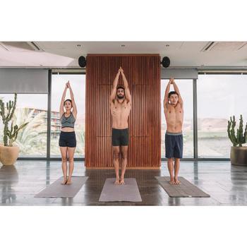 Serviette yoga  antiderapante - absorbante grise - 1311595