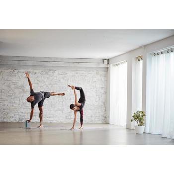 Yoga-Block Schaumstoff grau/blau