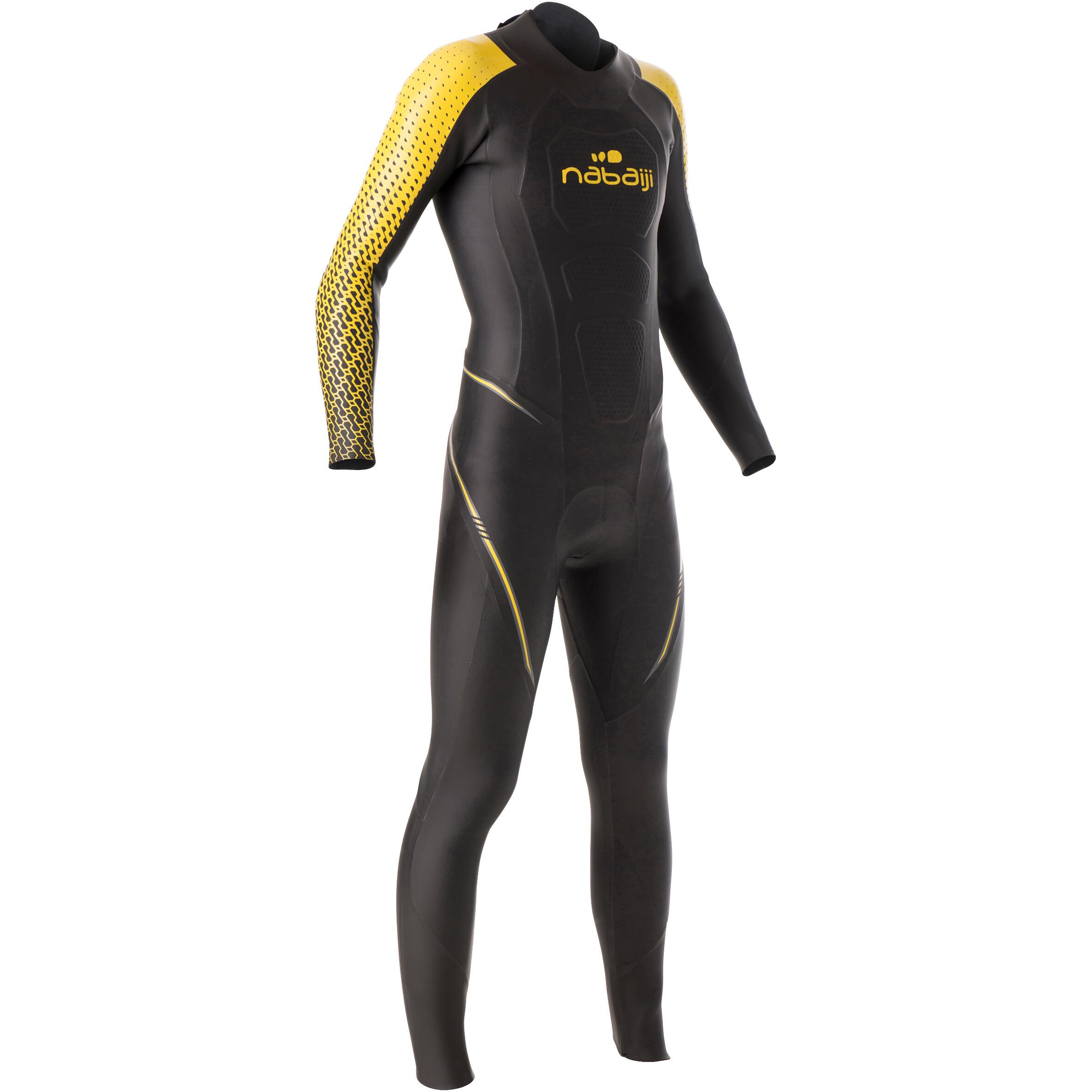 Nabaiji Neopreen herenwetsuit voor zwemmen OWS 900 4/2 mm koud water