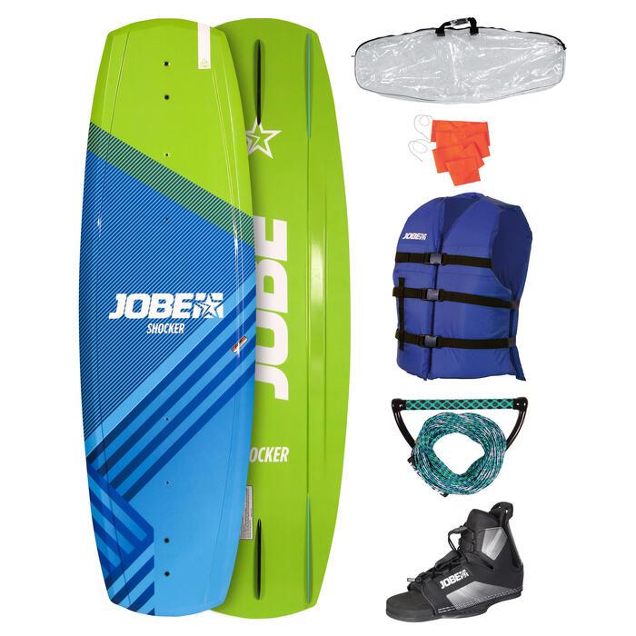 Wakeboard set Jobe Shocker 141 cm (board/bindingen/boardbag/vest/vlag/handle)