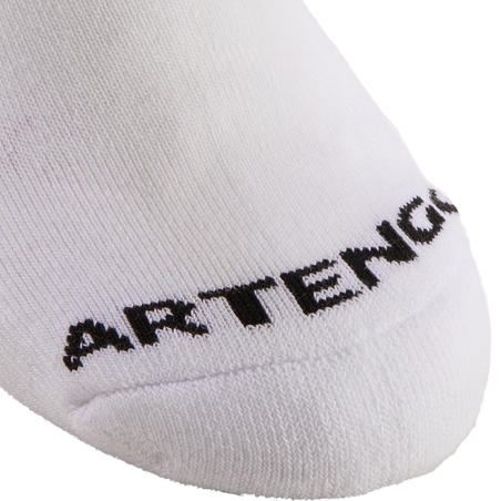 Kids' Mid Tennis Socks RS 100 Tri-Pack - White