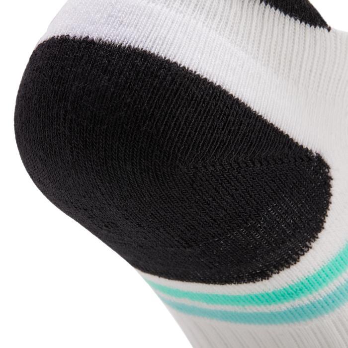 Korte sportsokken voor volwassenen Artengo RS 500 zwart/groen 3 paar