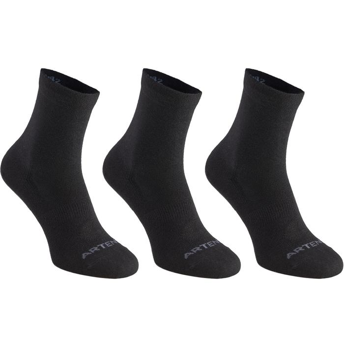 Tennissocken RS 160 High 3er Pack schwarz
