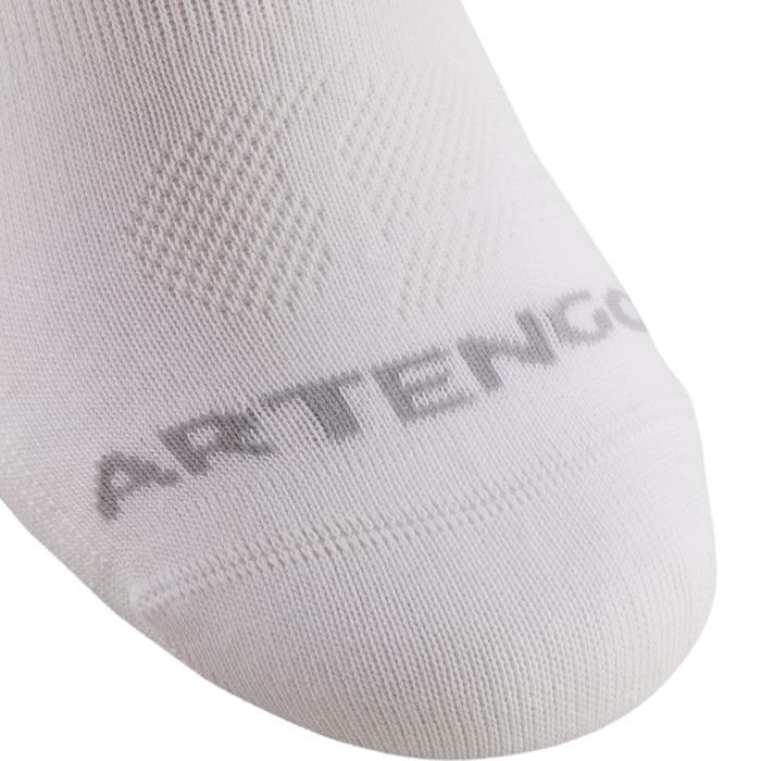 Lage sportsokken Artengo RS 160 wit set van 3 paar