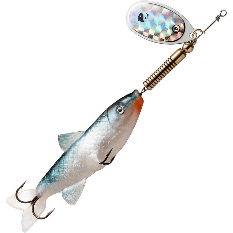 Spinner met ellerling Weta Fish #4 naturel