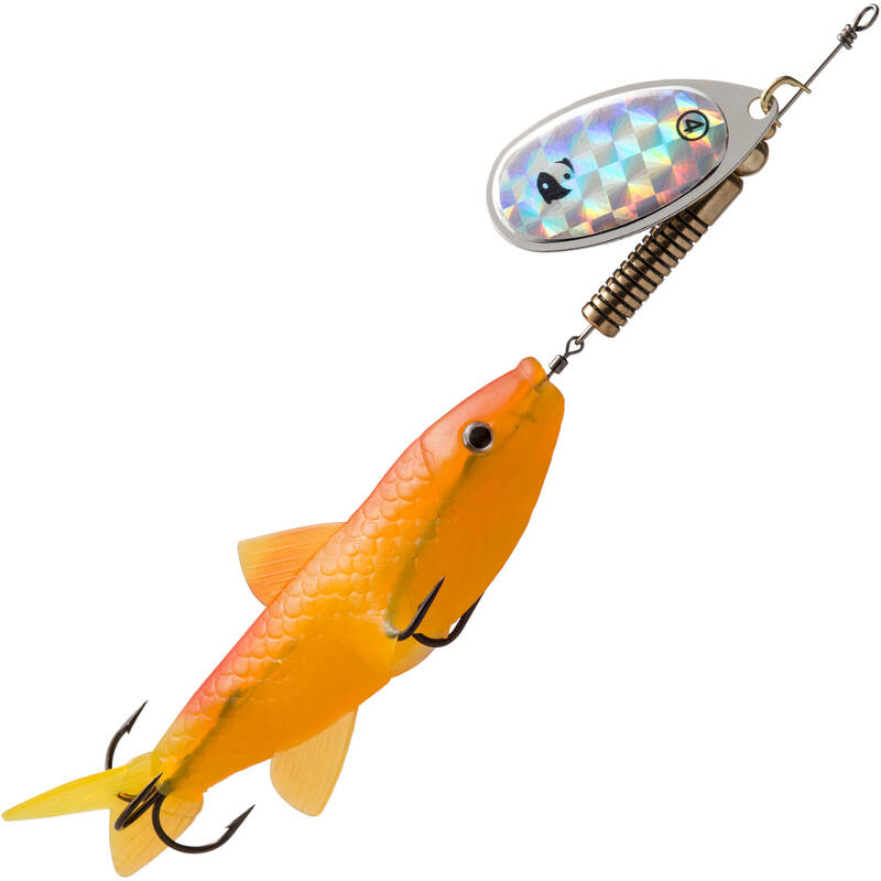 KOVOVÉ NÁSTRAHY Č. 2 3 4 5 Rybolov - TŘPYTKA WETA FISH #4 FLUO CAPERLAN - Návnady a nástrahy