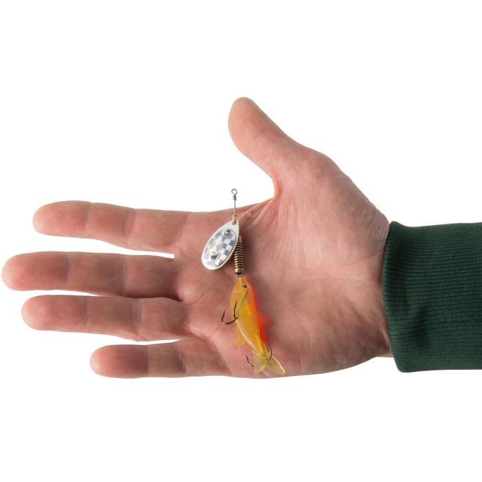Spinner mit Elritze Weta Fish #3 fluoreszierend Raubfischangeln
