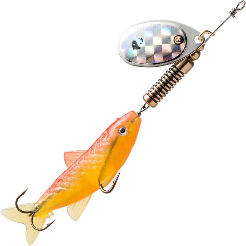METAL LURES OVER 5CM Fishing - SPINNER WETA FISH #3 FLUO CAPERLAN - Pike and Predator Fishing