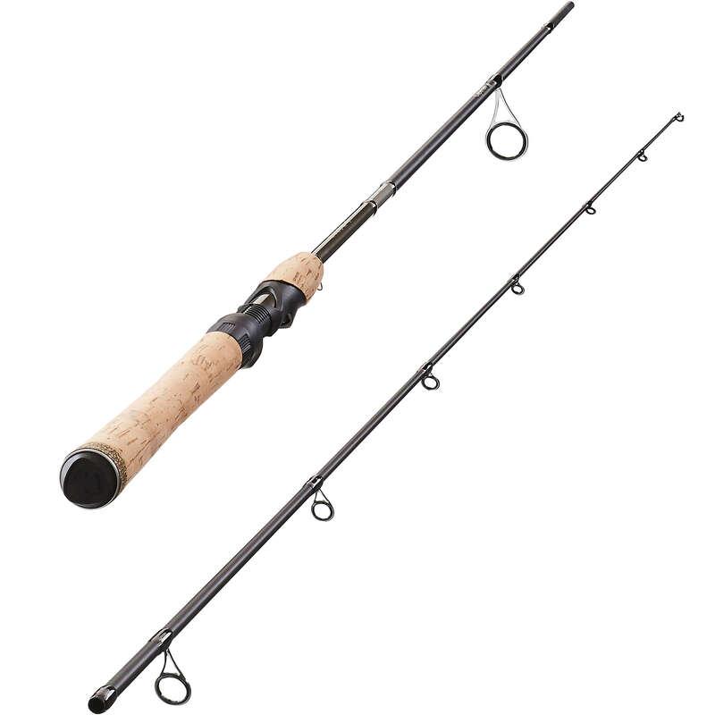 COMBO E CANNE SPINNING LEGGERO Pesca - Canna WIXOM-5 210L marrone CAPERLAN - Pesca alla trota