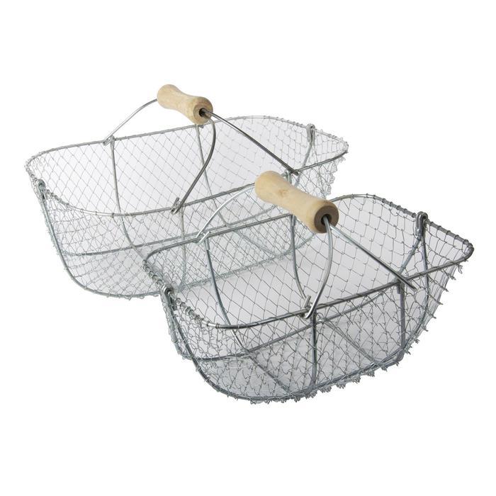 Te voet vissen/kruisnet mand voor schelpdieren 14 liter