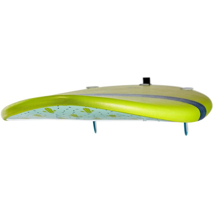 Surfboard Schaumstoff 100 Soft 6' mit Leash und Finnen