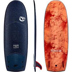 """Planche de surf en mousse 900, 5'4"""" . Livrée avec 2 ailerons."""