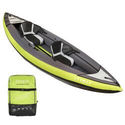 Canoe Kayak Gonflable De Randonnee 1 2 Places Vert