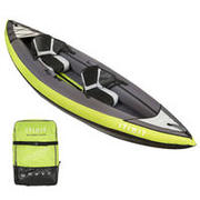 INFLATABLE TOURING KAYAK 1/2 SEATS - GREEN