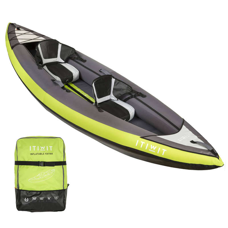 CAIACE GONFLABILE DRUMEȚIE Caiac, Stand Up Paddle - Caiac Gonflabil 1/2 locuri ITIWIT - Caiac