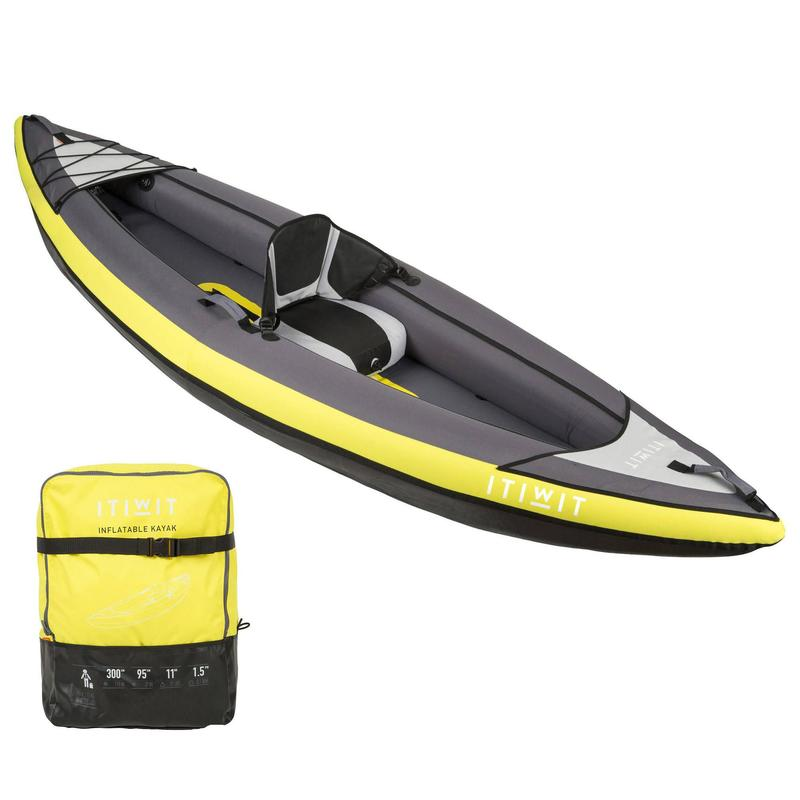 Kayak Canoa Hinchable Travesia Itiwit Amarillo 1 Plaza Piragüismo