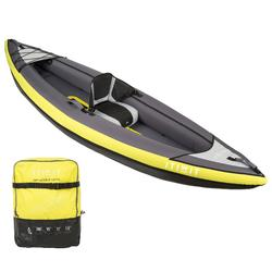 INFLATABLE TOURING KAYAK 1 PLACE YELLOW