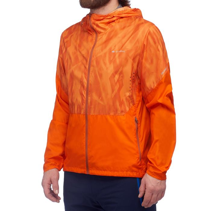Veste coupe vent de randonnée rapide Homme FH500 Helium wind Orange