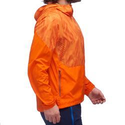 Chaqueta cortaviento de senderismo rápido Hombre FH500 Helium Wind Naranja
