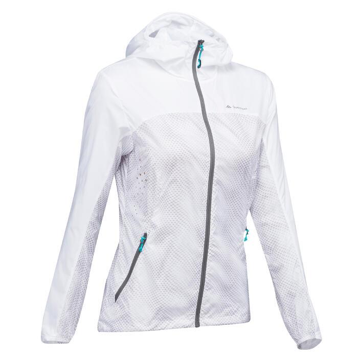 Jacke Speed Hiking FH500 Helium Wind Damen weiß