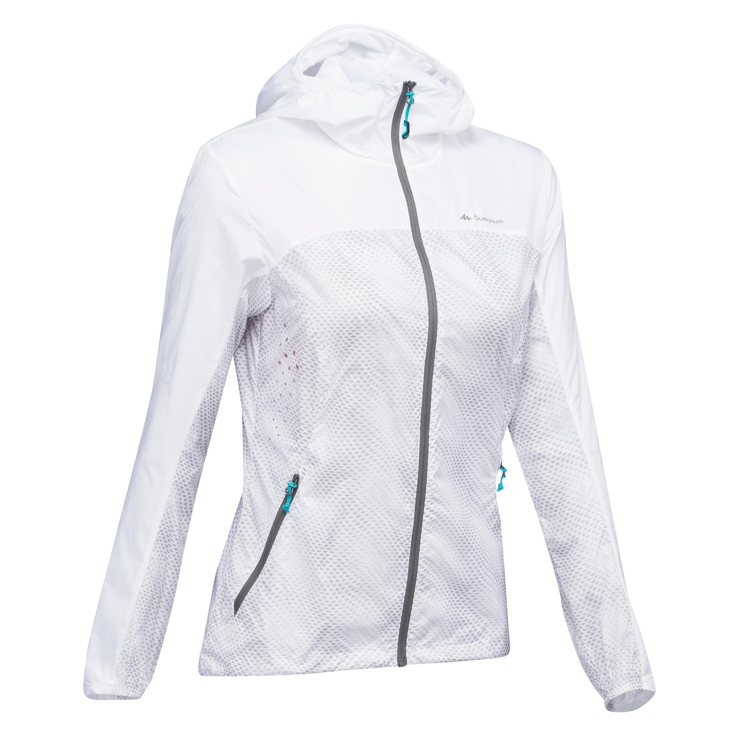 acheter populaire magasin vente chaude Veste coupe vent de randonnée rapide Femme FH500 Helium Wind Blanc