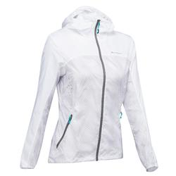 Jacke Speed Hiking FH500 Helium Wind Damen weiß