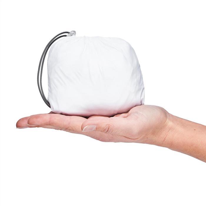Chaqueta cortaviento de senderismo rápido Mujer FH500 Helium Wind Blanco