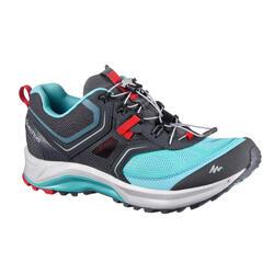 Zapatillas de senderismo rápido Mujer FH500 Helium Azul turquesa/Negro