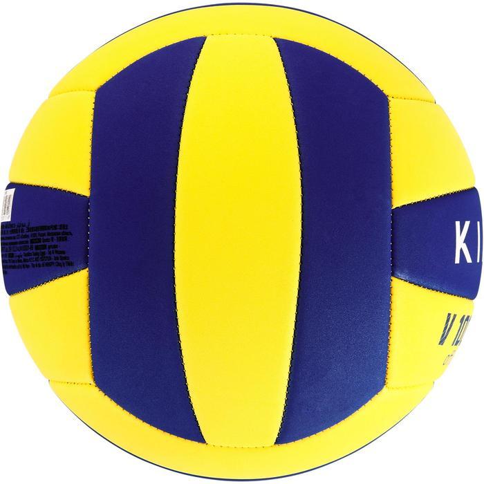 Volleybal V100 Soft 200-220 gram geel/blauw