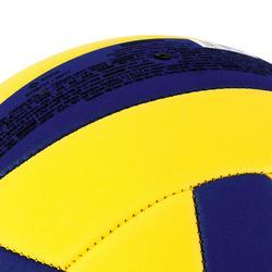 Ballon de volley-ball V100 SOFT 200-220g jaune et bleu pour les 6-9 ans
