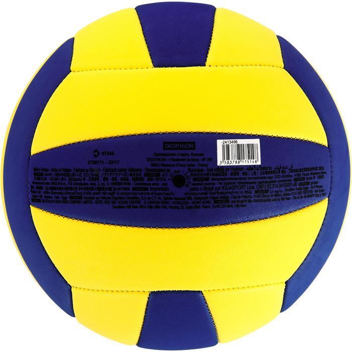 Ballon de volley-ball Wizzy 260-280g blanc et bleu à partir de 15 ans - 1312364