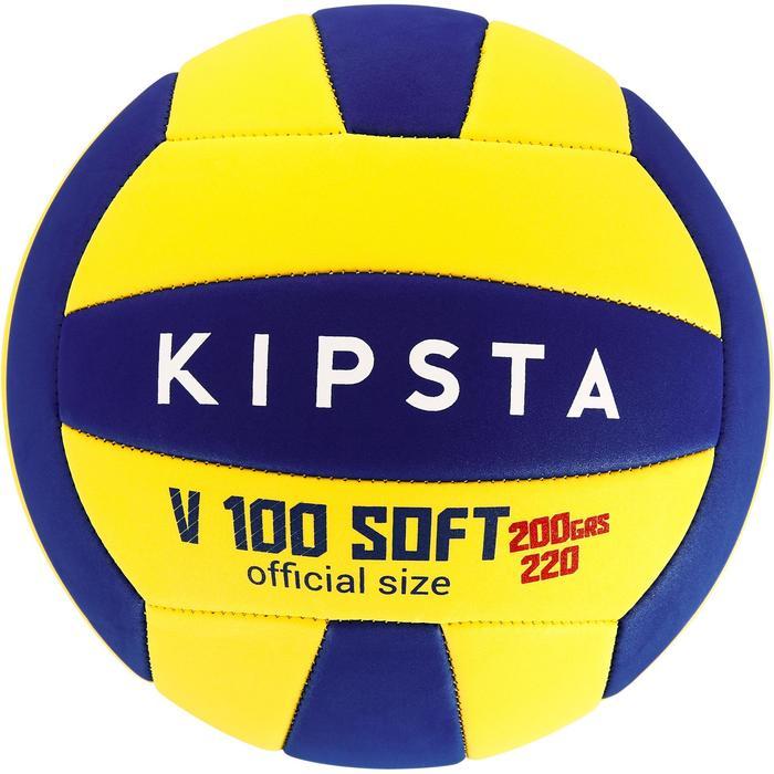 Ballon de volley-ball Wizzy 260-280g blanc et bleu à partir de 15 ans - 1312365