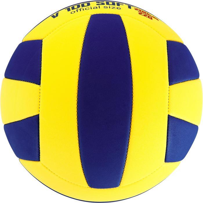 Ballon de volley-ball Wizzy 260-280g blanc et bleu à partir de 15 ans - 1312366
