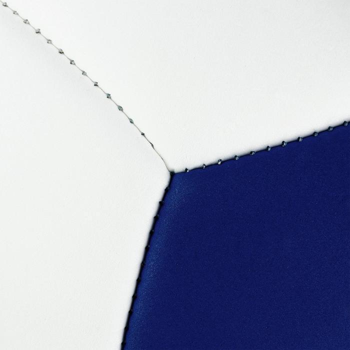 Ballon de volley-ball Wizzy 260-280g blanc et bleu à partir de 15 ans - 1312385